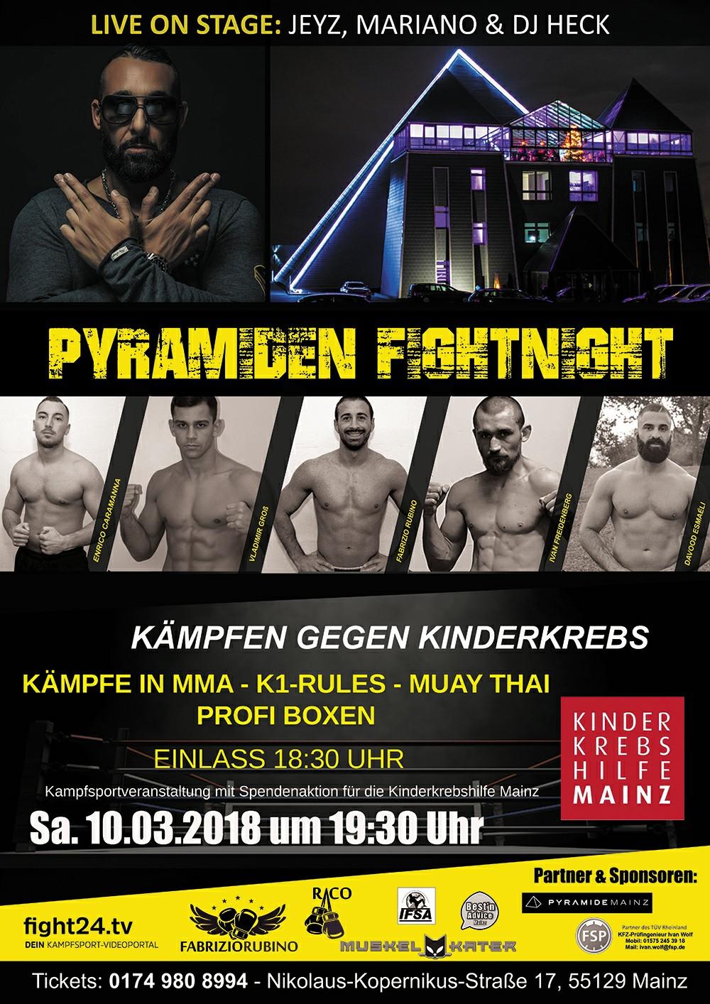 Plakat Pyramiden Fight Night