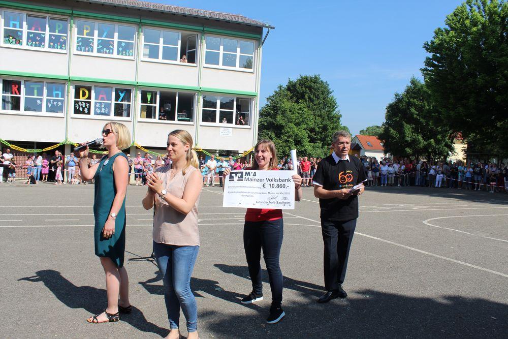 Spende Grundschule Saulheim