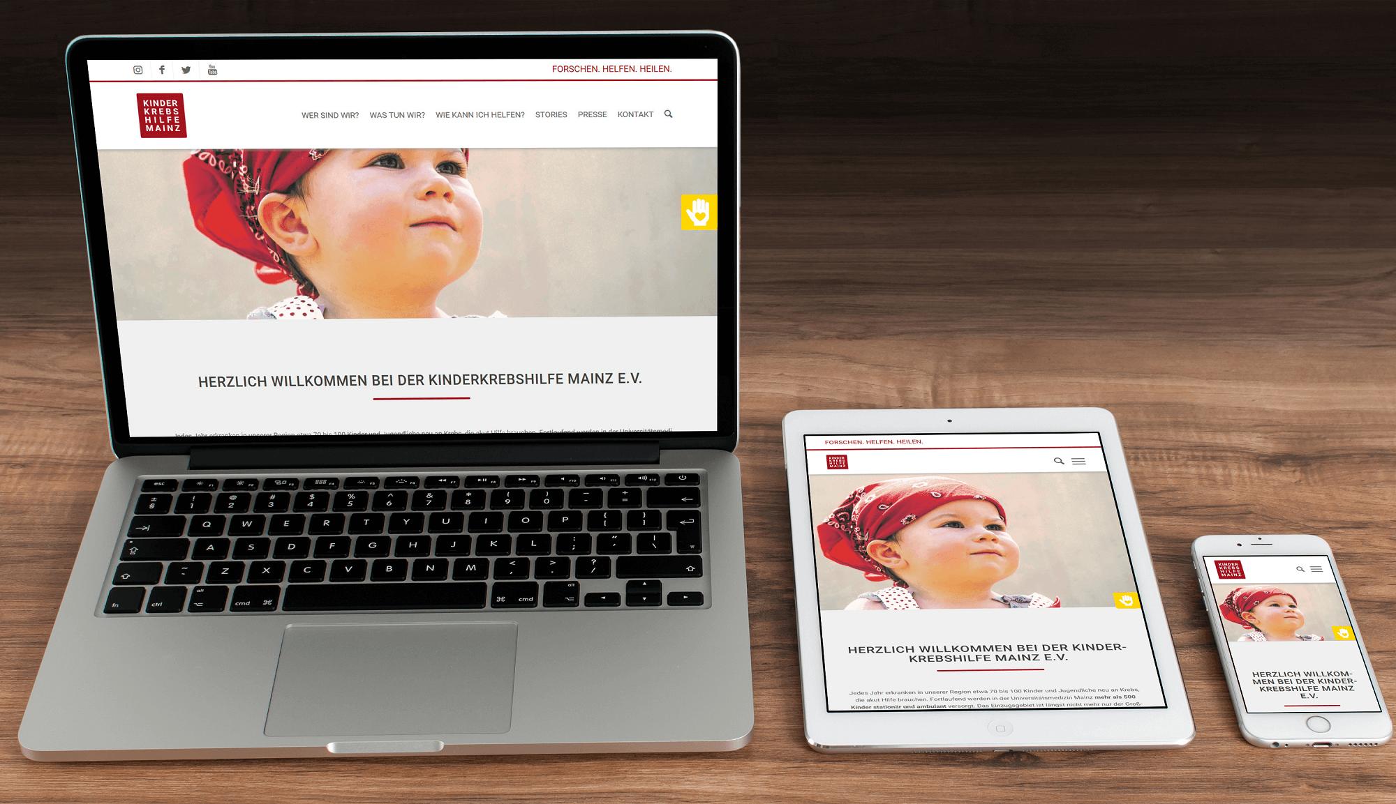 Neue Website - Mobile Endgeraete all