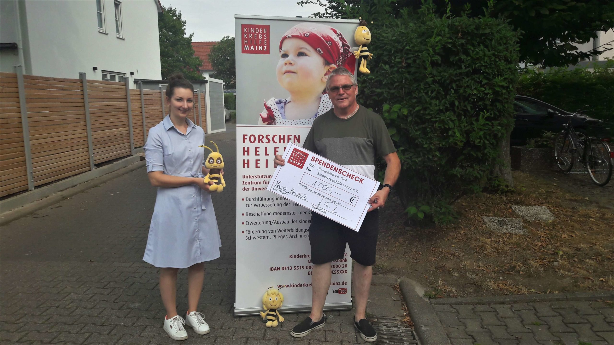 Insekten kennen keinen Lockdown: Wespen- und Hornissenbeauftragter Joachim Bernd Keller übergibt 1.000 Euro an die Kinderkrebshilfe Mainz e.V.