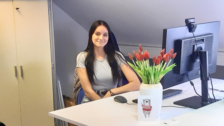 Schülerpraktikantin Michelle Klotz